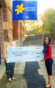 Cancer Council Donation Ya Ruth Huo