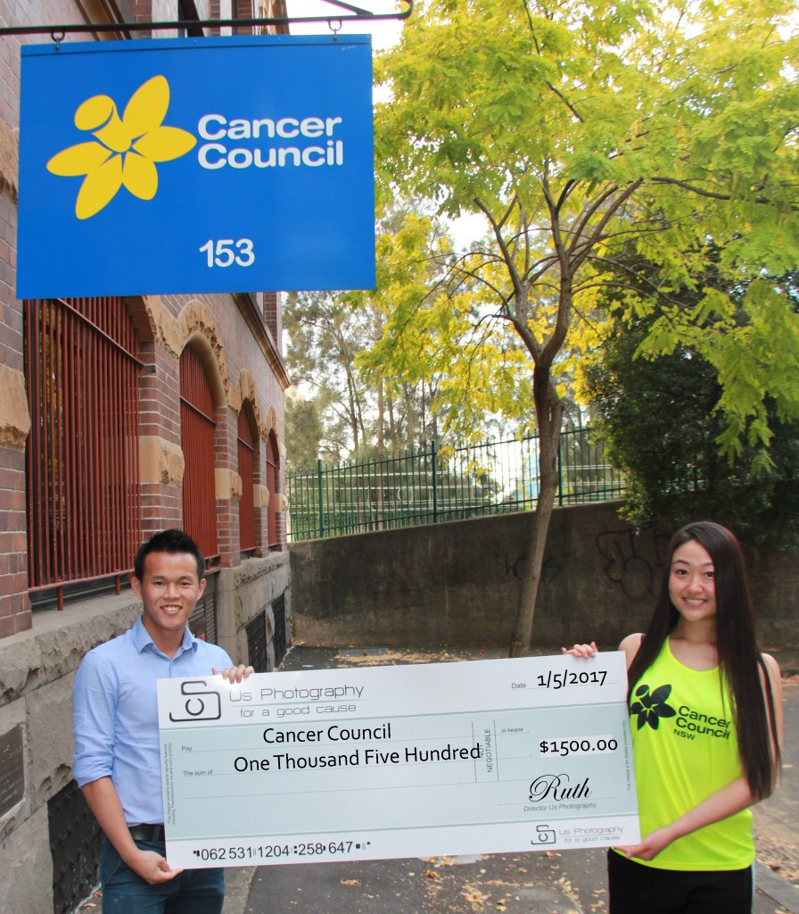 $1500 fundraised for Cancer Council for 45km Jabulani Run by Wallace Chow and Ya Ruth Huo